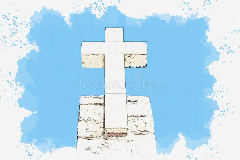 Christian Cross em Sintra imagens de stock royalty free