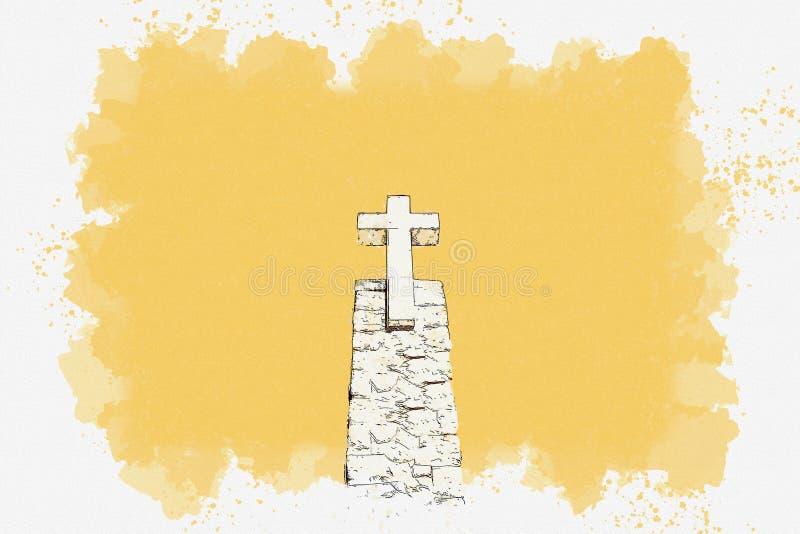 Christian Cross em Sintra fotografia de stock royalty free