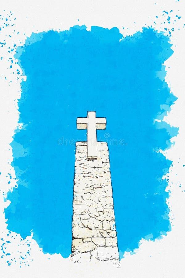 Christian Cross em Sintra fotos de stock royalty free