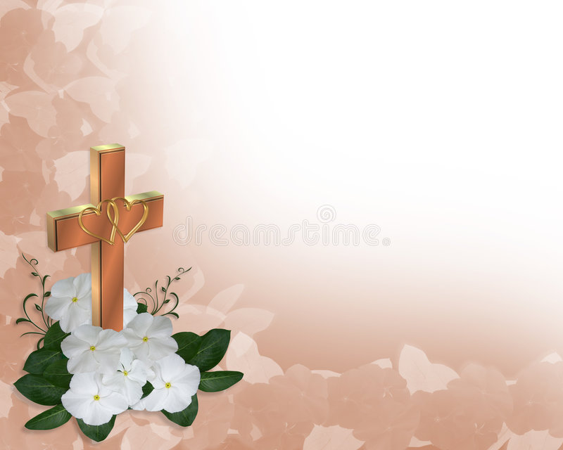 christian cross invitation wedding иллюстрация вектора