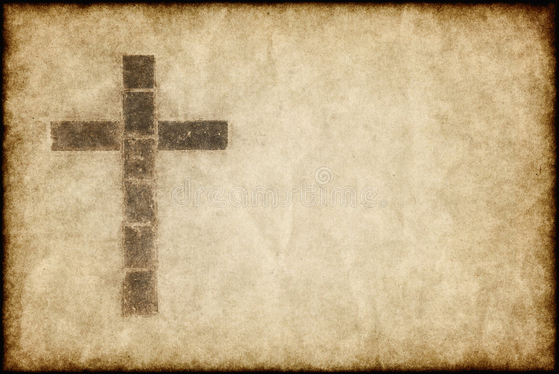 Download Christian Cross On Parchment Stock Image - Image: 7040997