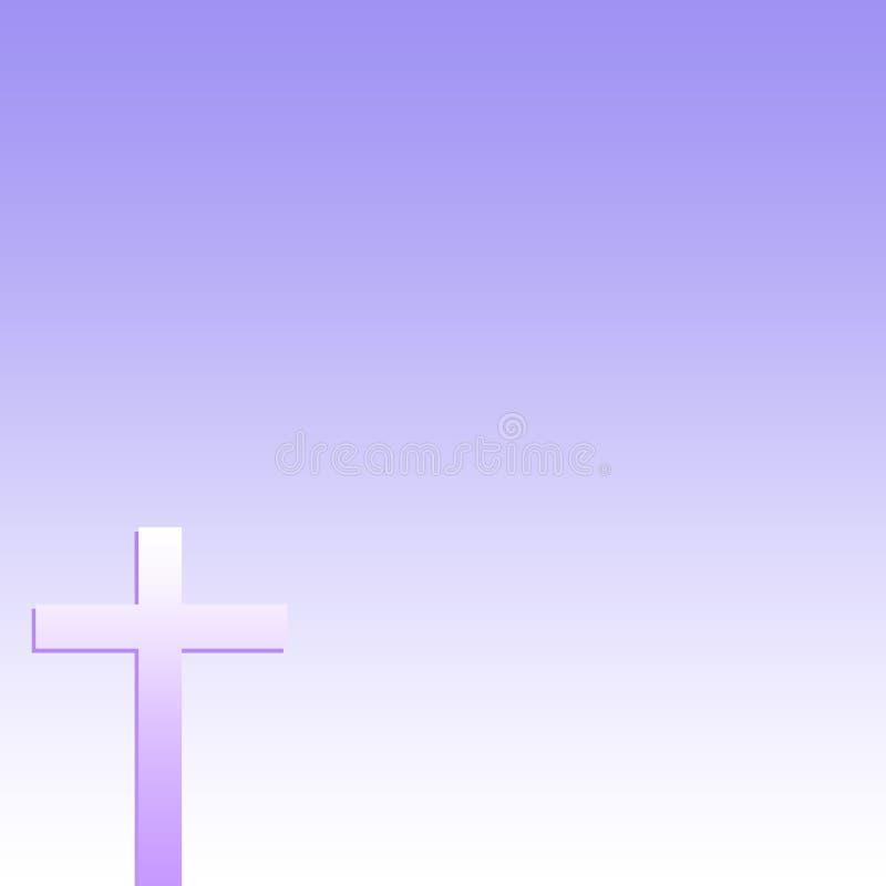 Christian Cross Purple Background fotografie stock