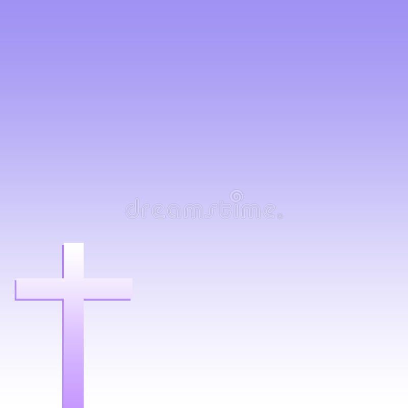 Christian Cross Purple Background stock photos