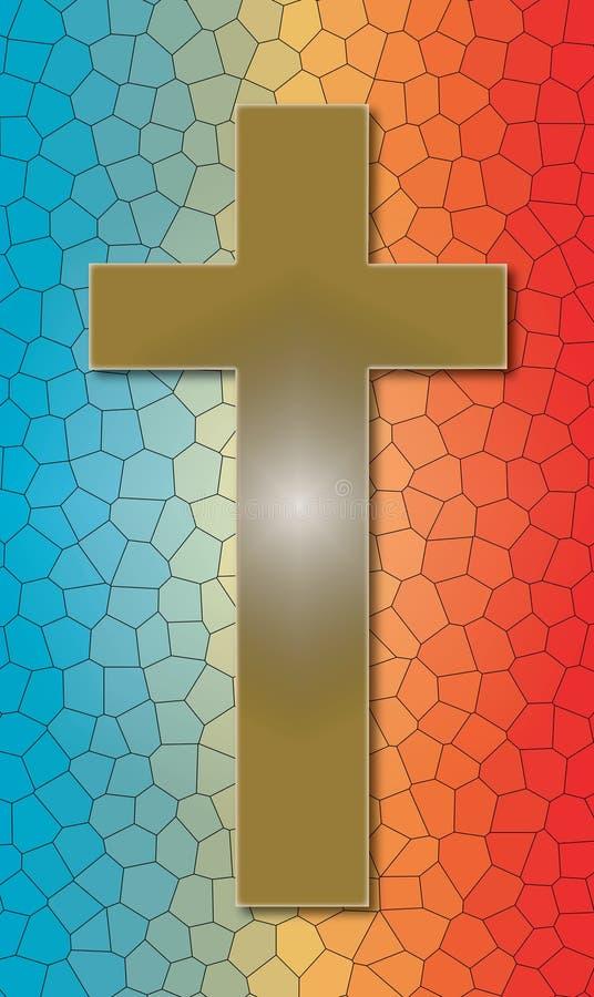 Christian Cross sur le verre souillé souillé images libres de droits