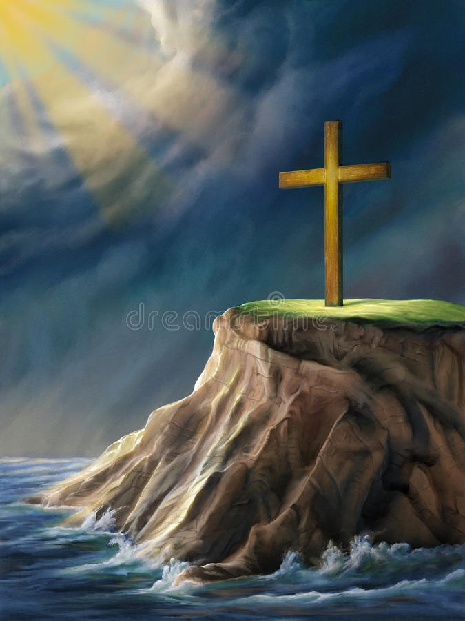 Christian cross stock illustration