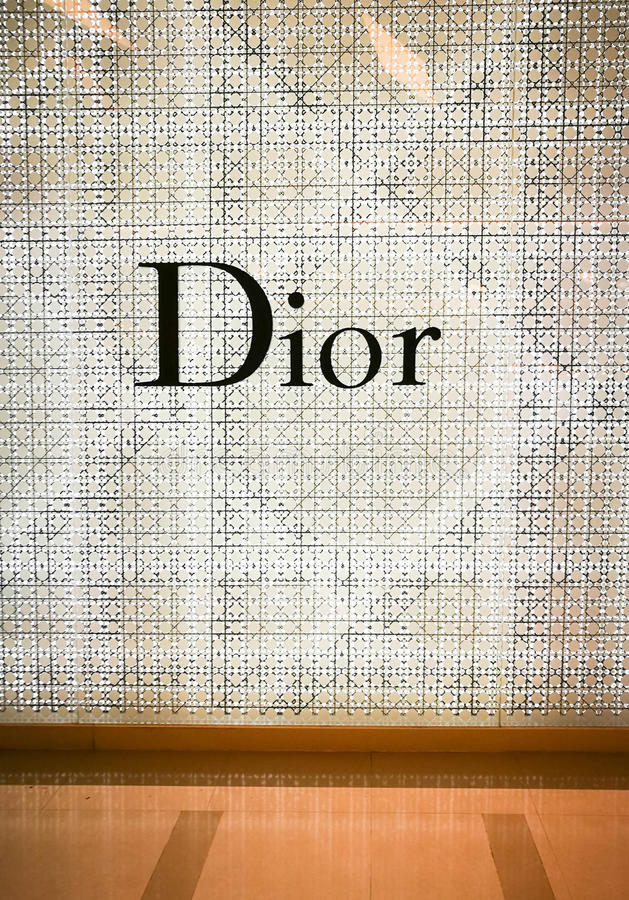Christian Dior sklep zdjęcia royalty free