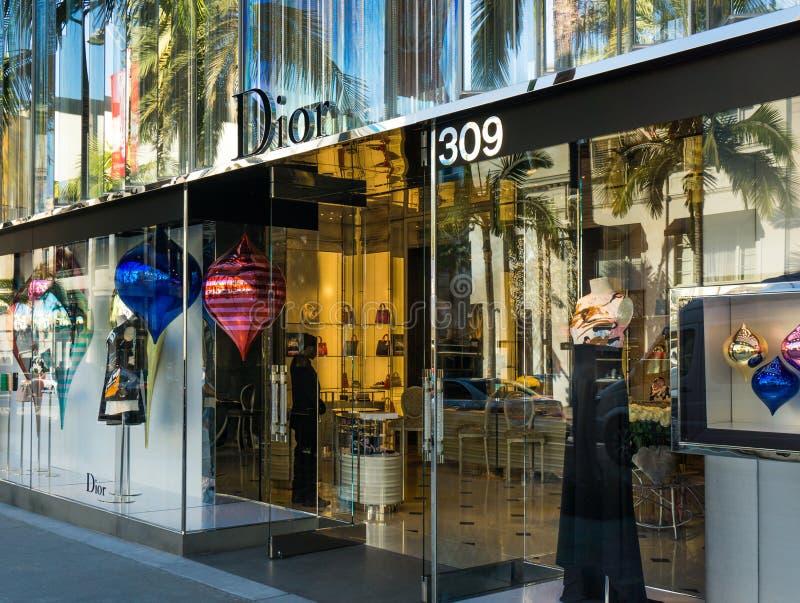 Christian Dior sklepu detalicznego powierzchowność zdjęcia stock