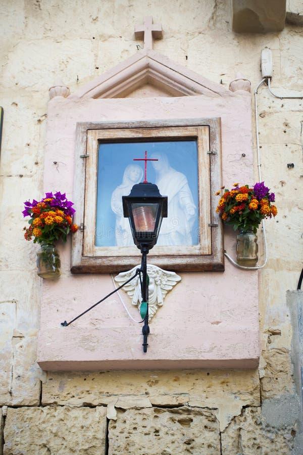 Christian display decoration Valletta Malta stock photo