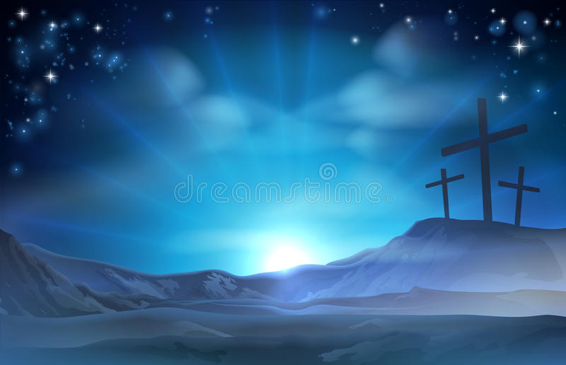 Christian Easter Illustration stock de ilustración