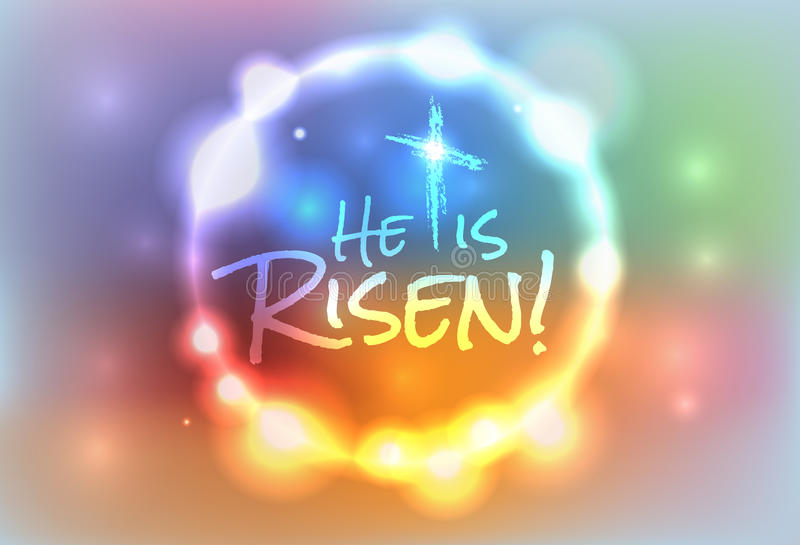 Christian Easter Risen Illustration. An illustration for Easter Jesus has risen theme. Vector EPS 10 available. EPS contains transparencies and a gradient mesh