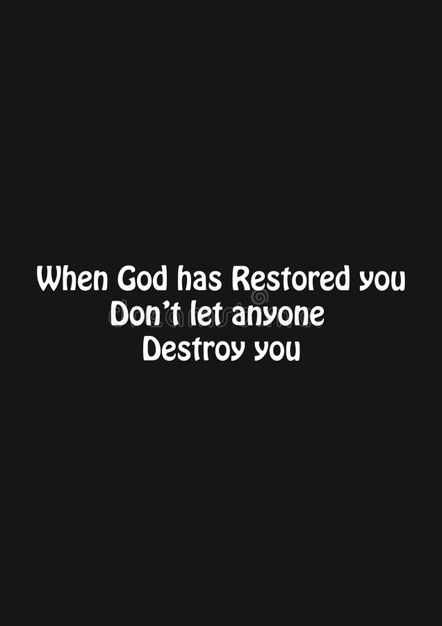 Christian faith, motivational quote of life stock photo