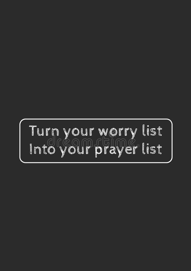 Christian faith, motivational quote of life stock image