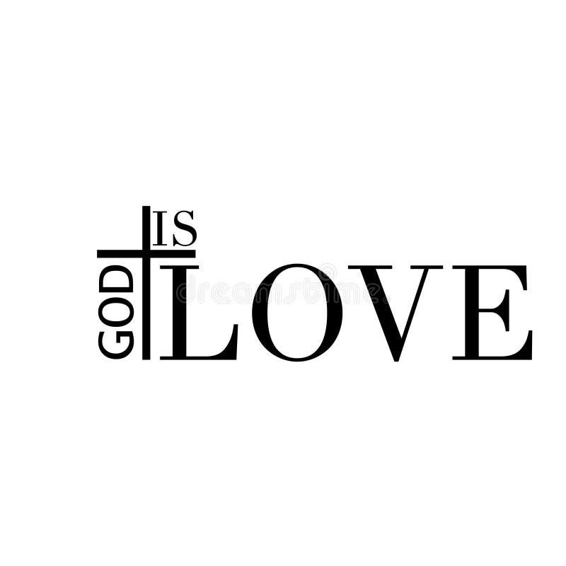 Christian faith, God is love royalty free stock images