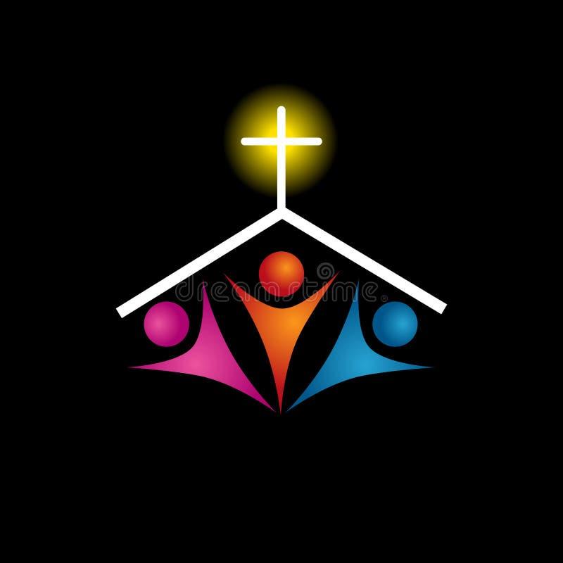Christian Family Icon illustration stock