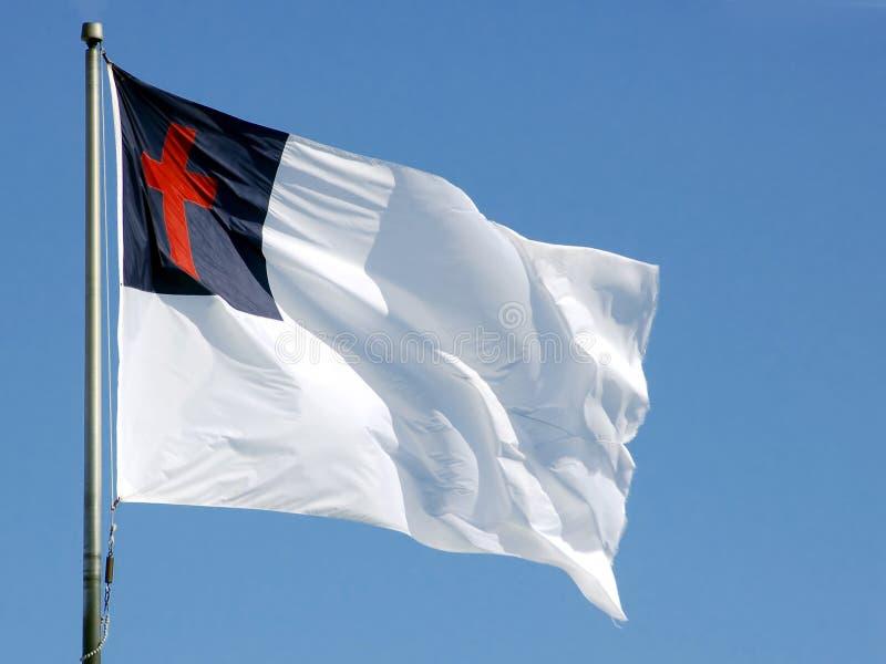 Christian Flag. A Christian Flag flying on a bright day stock photos