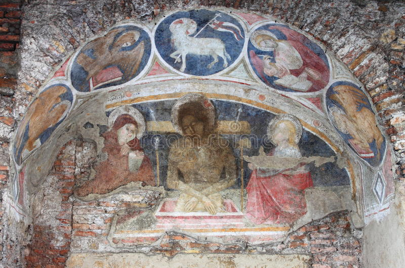 Christian fresco stock photo