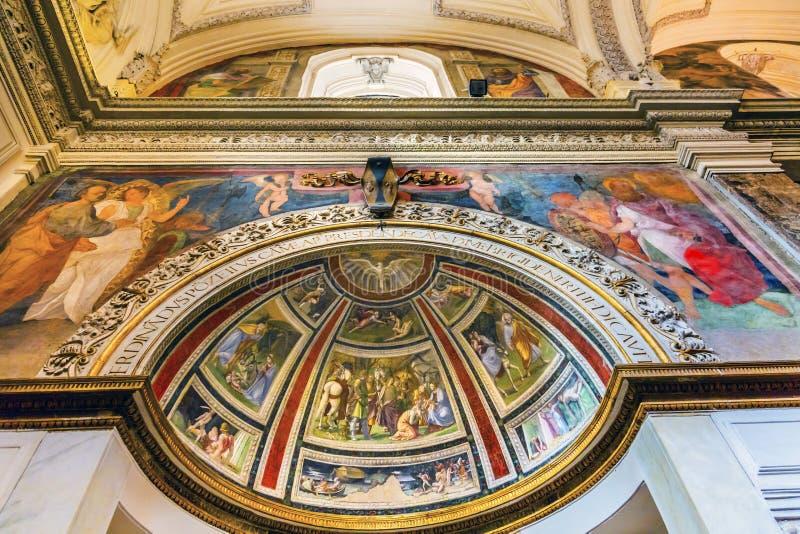 Christian Frescoes Santa Maria Della Pace-Kirche Rom Italien stockfotos