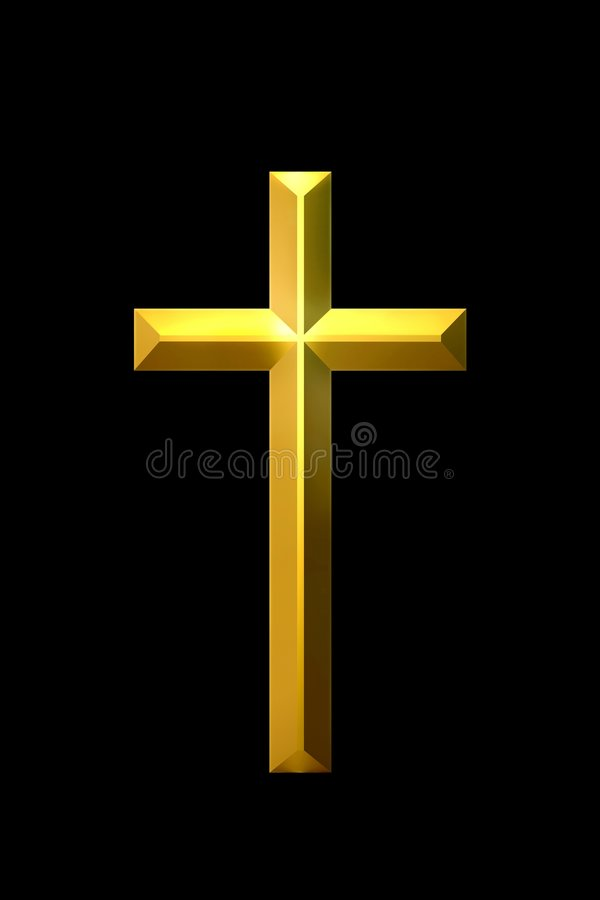 Christian golden cross royalty free stock photo