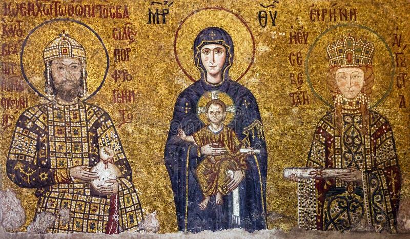 Christian Icon Vierge Marie et des saints dans Hagia Sophia dans Ista photos libres de droits