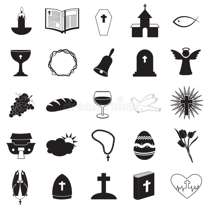 Christian Icons Collection ilustração do vetor