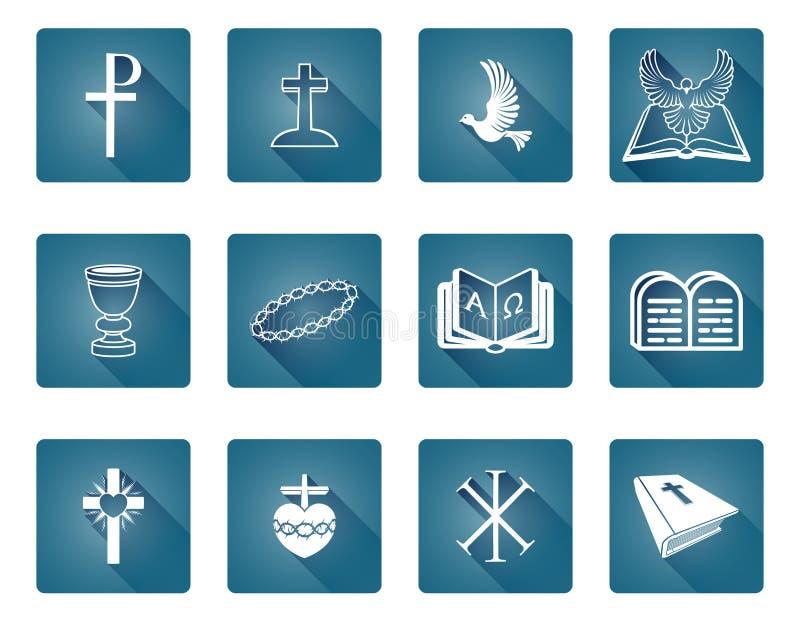 Christian Icons vector illustration