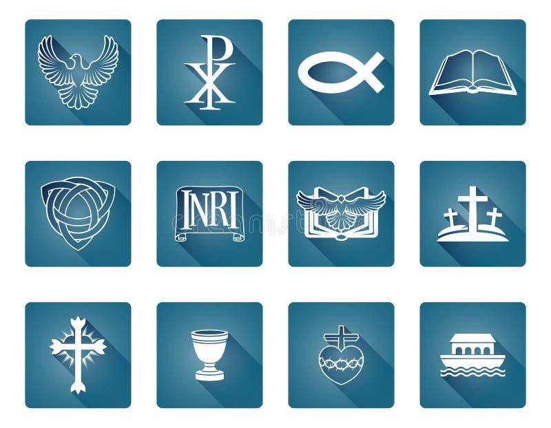 Christian Icons royalty free illustration