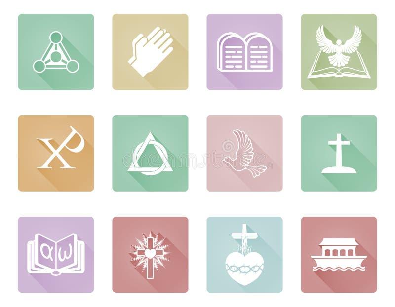 Christian Icons stock illustration
