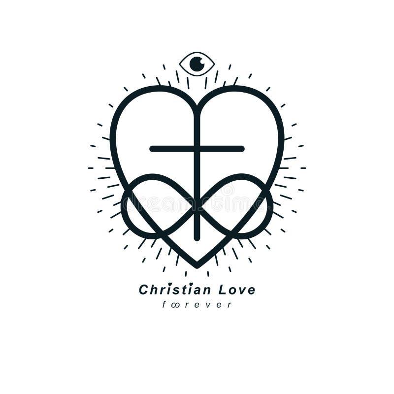 Christian Love eterno y la creencia verdadera en dios vector el creativ stock de ilustración