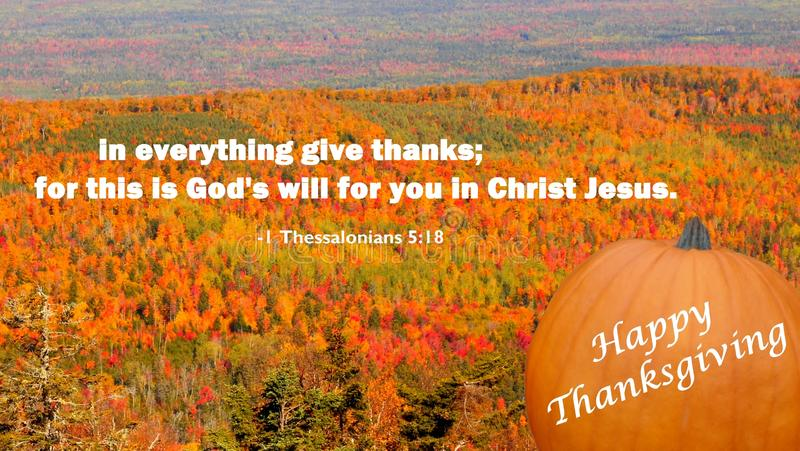 A christian message thanksgiving day greeting card stock image