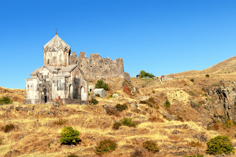 Christian monastery Amberd royalty free stock images
