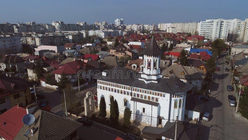 Christian Orthodox kyrka som ses från surret royaltyfri fotografi