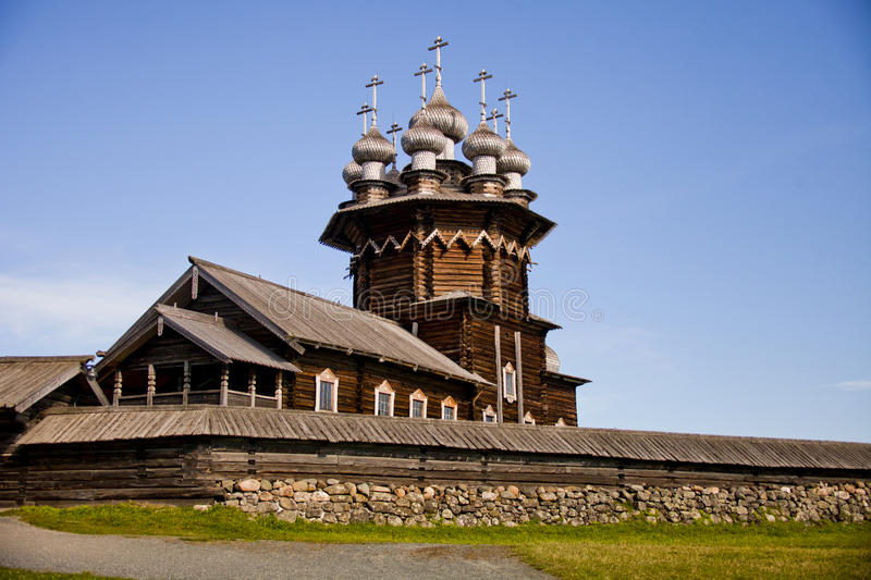Christian orthodox wooden church. royalty free stock image