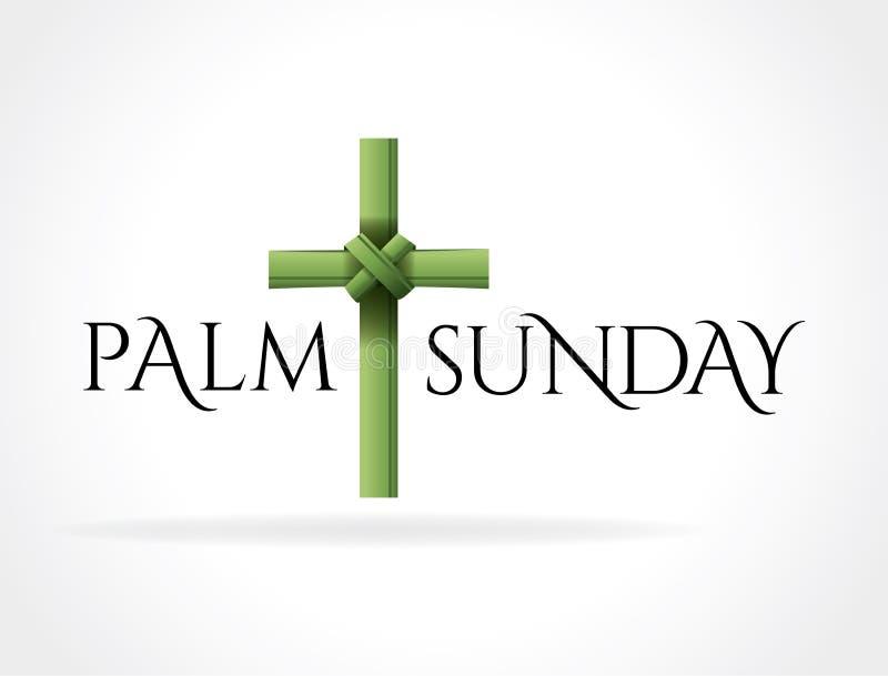 Christian Palm Sunday Cross Theme illustration royaltyfri illustrationer