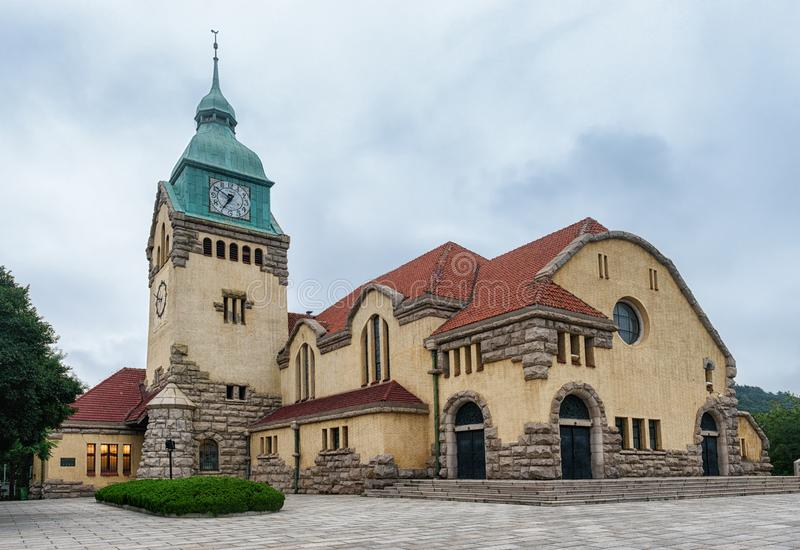 Christian Protestant Church, Qingdao stockbilder