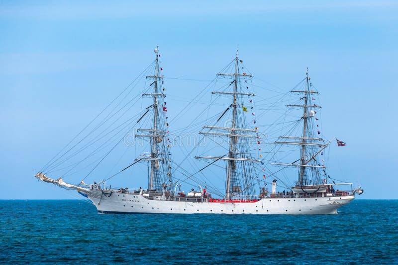 Christian Radich - högväxt skepp - Nordsjö royaltyfria bilder