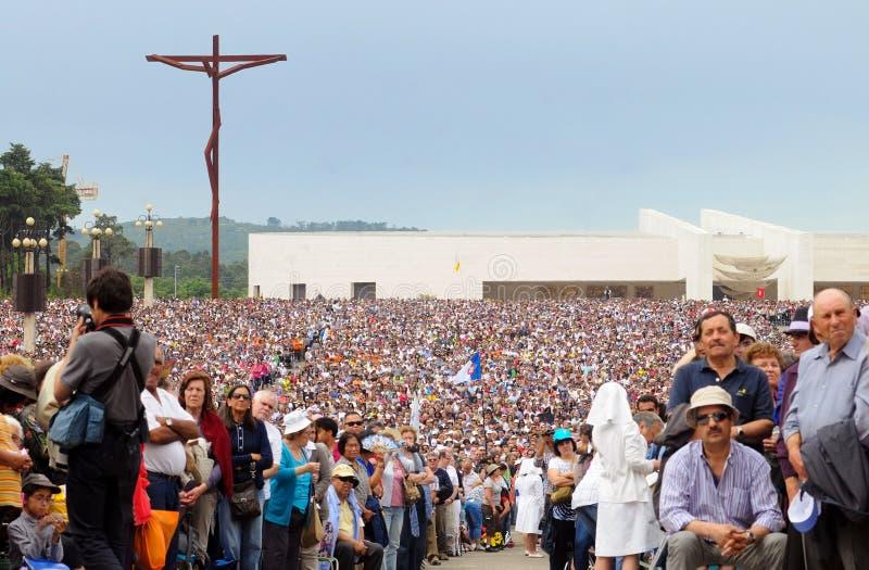 Christian Religion, peregrinação de Portugal, Jesus Christ, Christian Faith, multidão do devoto fotos de stock royalty free