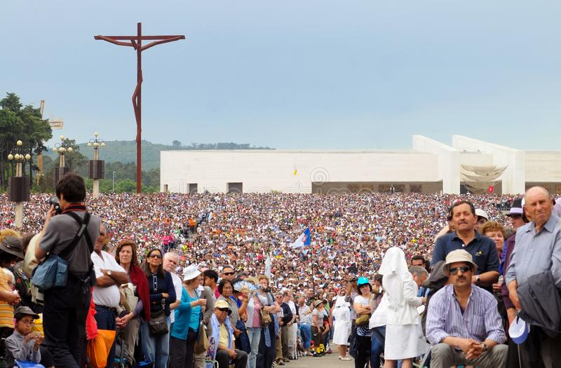 Christian Religion Portugal pilgrimsfärd, Jesus Christ, Christian Faith, fantastfolkmassa royaltyfria foton
