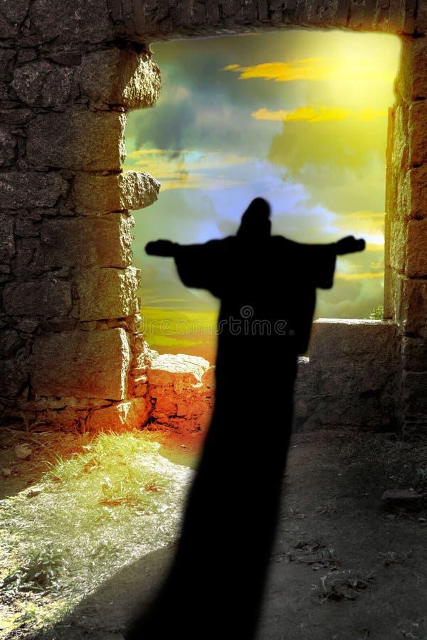 Christian Religion. Resurrection of Jesus Christ. royalty free illustration