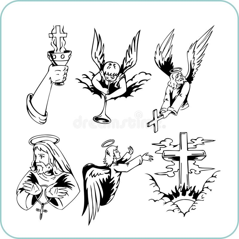 Christian Religion - Vector Illustration. Royalty Free Stock Images