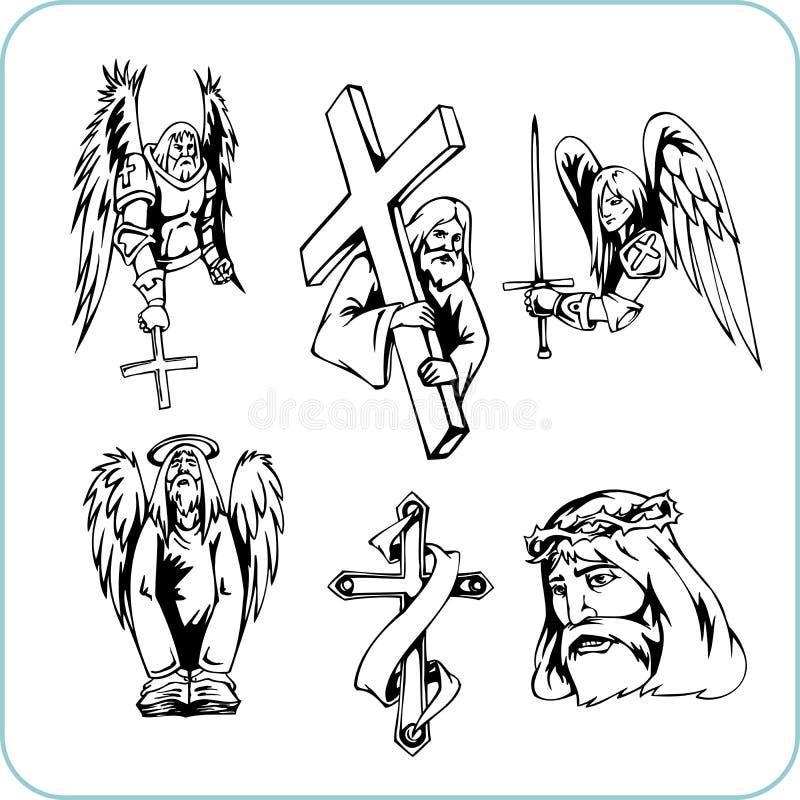 Christian Religion - vector illustration. Vinyl-ready royalty free illustration