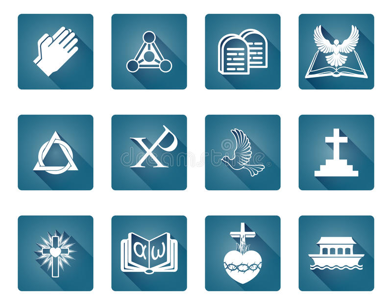 Christian Religious Icons vector illustration