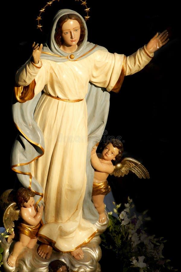 Saint mary vintage religious statue royalty free stock image
