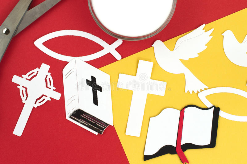 Christian Scrap Booking Crafts. Christian paper cutouts scrap booking crafts stock photography