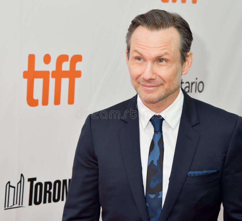 Christian Slater bij première van het Publiek bij Internationaal de Filmfestival 2018 van Toronto royalty-vrije stock afbeelding