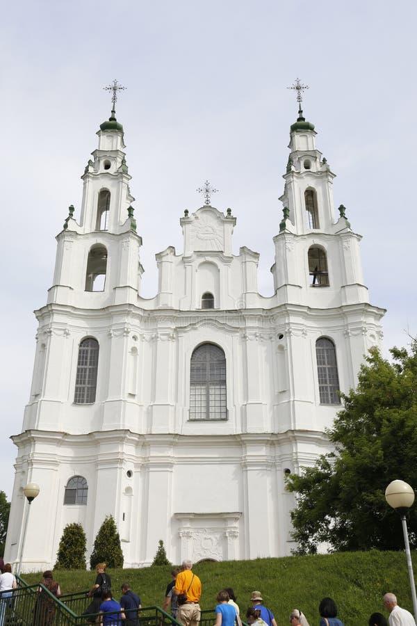Christian St Sophia Cathedral en la ciudad de Polotsk, la República de Belarús fotografía de archivo libre de regalías