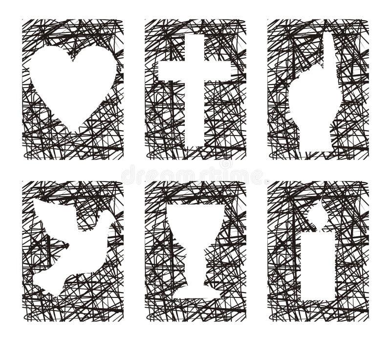 Download Christian symbols stock illustration. Image of christian - 22075159