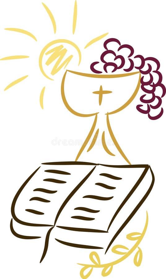 Christian symbols stock illustration