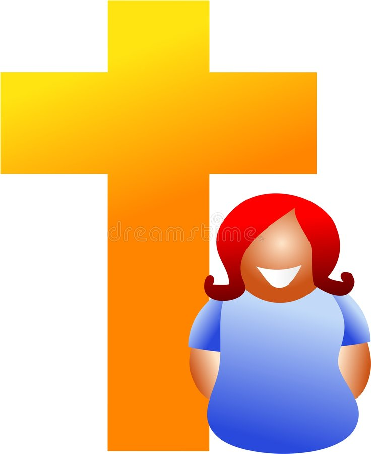 Christian woman stock illustration