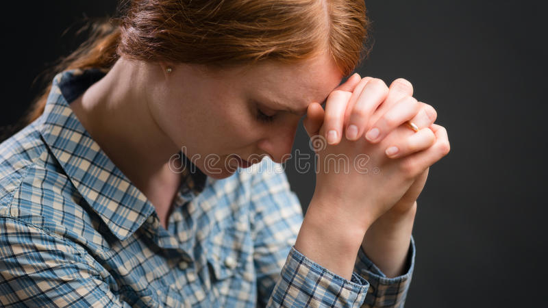 Christian Woman Praying stock photos