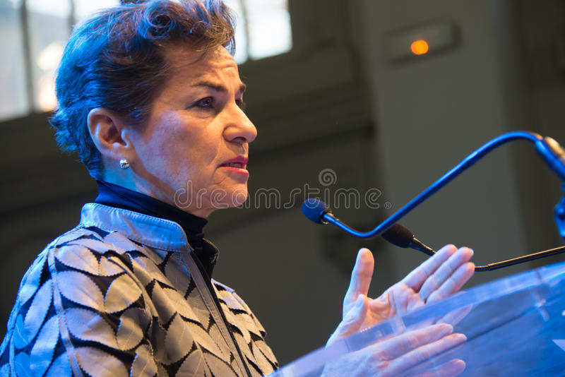 Christiana Figueres, Geschäftsführer der Klimaversammlung der Vereinten Nationen stockbild